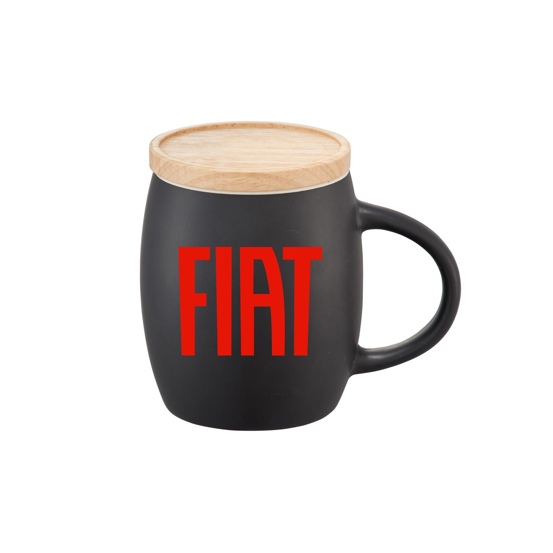 Mug with Wood Lid/Coaster