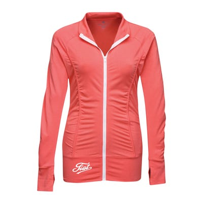 Women's Ruched Zip-Up